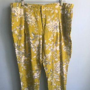 Elevenses floral cropped pants